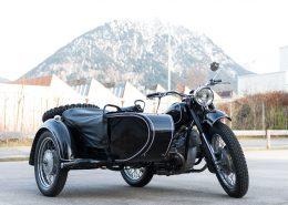 Oldtimer Motorrad mit Beiwagen